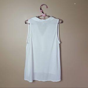 Splendid Tops - Splendid white sleeveless high low blouse medium